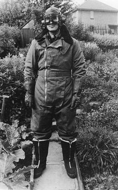 Reg Jeffcock in flying suit